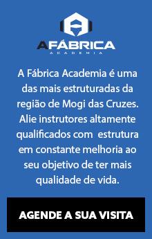A Fábrica Academia é uma das mais estruturadas da região de Mogi das Cruzes Alie instrutores altamente qualificados com estrutura em constante melhoria ao seu objetivo de ter mais qualidade de vida. Agende sua visita